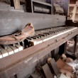 Stock Photo: Old Piano And Shoe