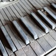 Stock Photo: Dirty Piano Keys
