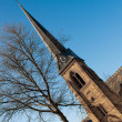 Church Steeple In The Blue Sky — Stock Photo