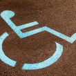 Handicap Wheelchair Sign — Stock Photo