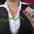 Business Woman Drawing Business Chart — Stock Photo