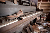 Old Piano And Shoe — Stock Photo