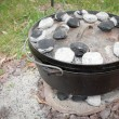 Dutch Oven Dinner Cooking - Stock Photo