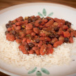 Kidney Beans And Rice On A Plate — Stock Photo