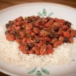 Stock Photo: Kidney Beans And Rice On Plate