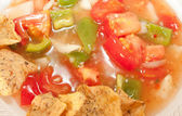 Salsa And Tortilla Chips Close Up — Stock Photo