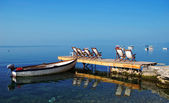 Ohrid lake in Macedonia in the morning — Stock Photo