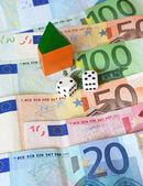 Money house gamble — Stock Photo