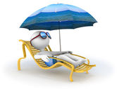 Summer vacation: seaside relaxation — Stock Photo