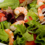Shrimp Green Salad — Stock Photo