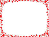Granicy biało -czerwone serce — Zdjęcie stockowe
