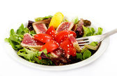 Seared Tuna Green Salad — Stock Photo