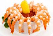 Coquetel de camarão, isolado no branco — Foto Stock