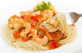 Shrimp Scampi Pasta Dish — Stock Photo