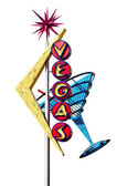 Old Las Vegas Strip Sign Isolated — Stock Photo