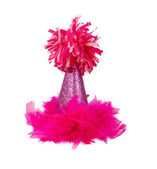 Pink Feather Birthday Party Hat — Stock Photo
