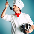 Stock Photo: Cook artist