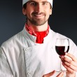 Stock Photo: Wine man