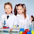 Foto de Stock  : Children science