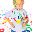 Playful kid - Stock Photo