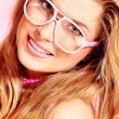 Spectacles pink - Stock Photo