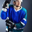 Hockey player — Stockfoto