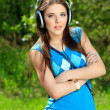 Stock Photo: Music headphones