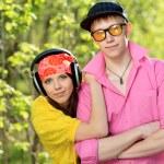 Trendy couple — Stock Photo