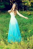 Blue dress — Stock Photo