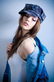 Smyslná dívka — Stock fotografie