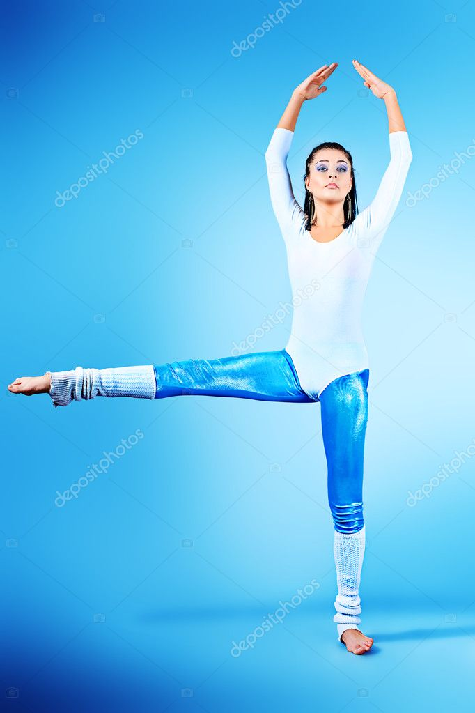 Modern ballet dancer dancing at studio.  Stock Photo #10952289