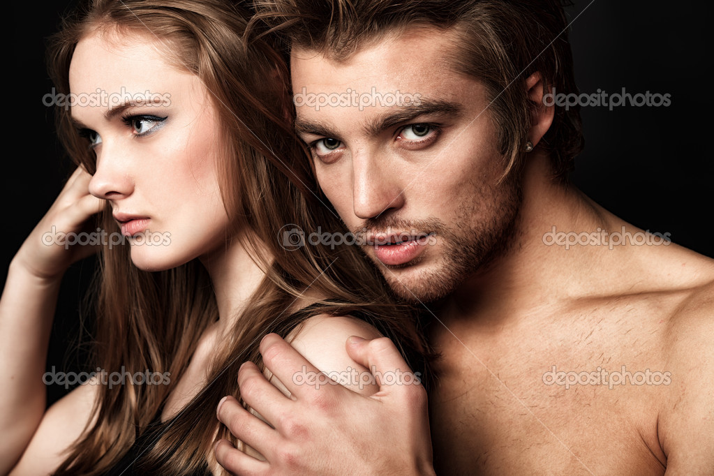 Shot of a passionate young in love. — Stock Photo #10952474
