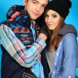 Portrait of a happy young couple in warm clothes. — Stock Photo #10996039