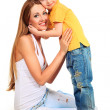 With son — Stock Photo