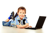 Laptop education — Stock Photo