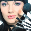 Makeup brushes - Stock fotografie