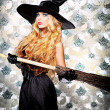 Stock Photo: Witch broom