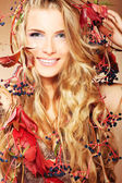 Autumn lady — Stockfoto