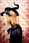 Charming witch — Stock Photo