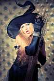 Coquette witch — Stock Photo