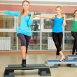 Step aerobics — Stock Photo