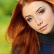 Red haired girl — Stock Photo #11361404