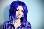 Emo girl — Stock Photo