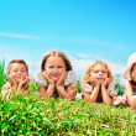 Smiling children — Stock Photo
