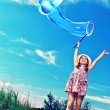 Flying bubble — Stock Photo