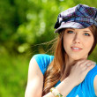 Girl in cap — Stock Photo