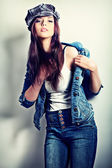 Lady jeans — Stock Photo