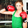 Boxing girl — Foto Stock