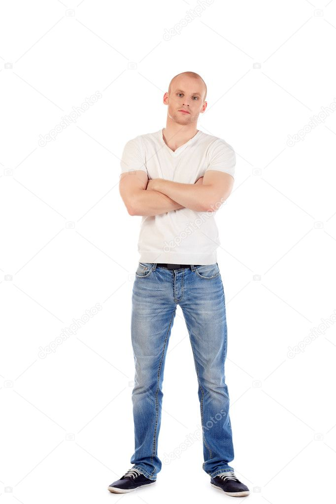 Portrait of a confident man. Isolated over white. — Stock Photo #11851189