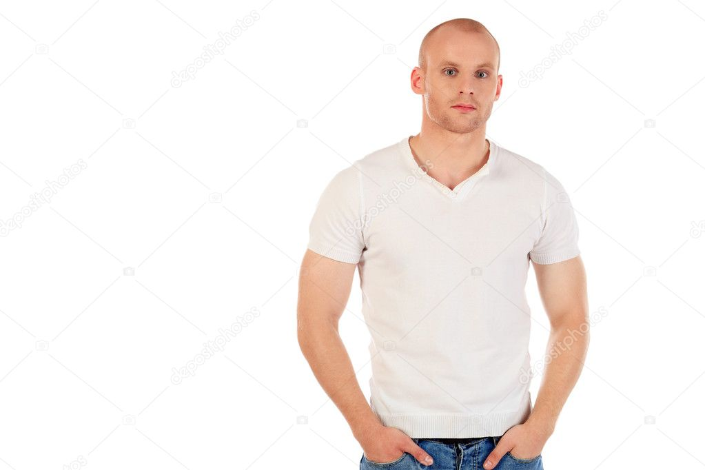 Portrait of a confident man. Isolated over white. — Stock Photo #11851381
